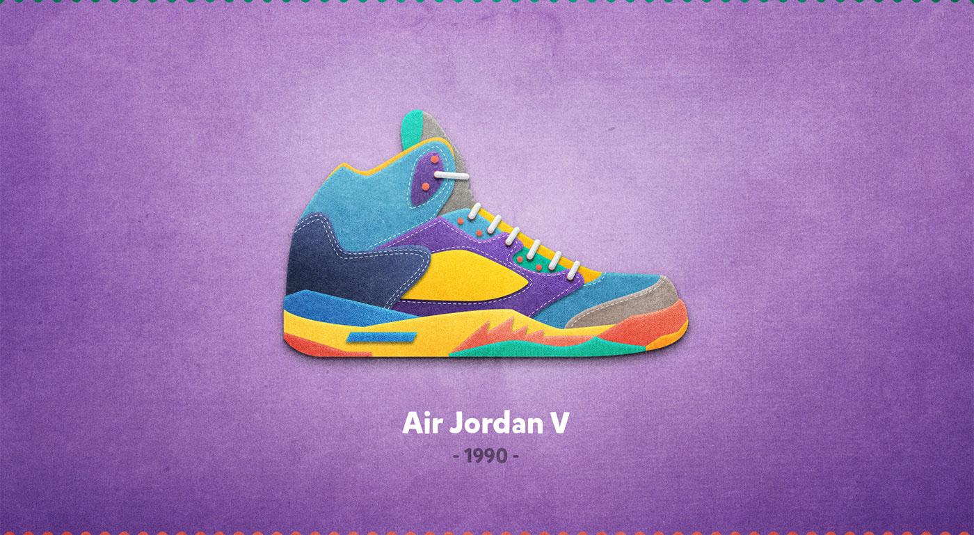 Air jordan V - 1990